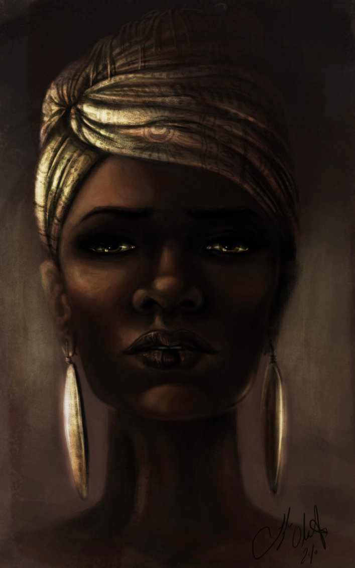 Black art – Beautiful black woman – by Tyleen  African American